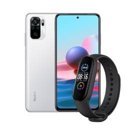 Zestaw Smartfon Redmi Note 10 4+64GB Pebble White + Mi Band 5