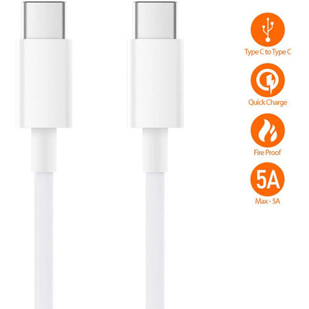 Kabel Mi USB Type C to Type C Cable 150cm White PD 100W